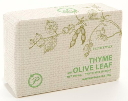 Paddywax Eco Green 7-Ounce Triple-Milled Shea Butter Soap, Thyme And Olive Leaf