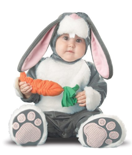 InCharacter Baby's Lil Character Baby Bunny Costume, Dark Grey/White/Pink, 18-24 Months