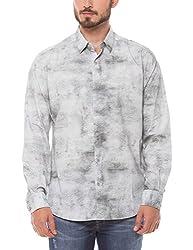 Shuffle Men's Casual Shirt (8907423018815_2021514901_Medium_Blue)