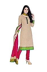 Pandadi Creation Women's Cotton Multicolor Color Untitched Dress Material with Cotton Dupatta