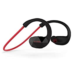 G-Cord(TM) Bluetooth 4.0 Headphones, Wireless Stereo Sports Headsets, Running Gym Exercise Sweatproof Earphones, Earbuds with Built-in Mic for Hands Free Calling(Black)