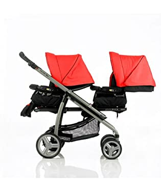 Bebecar Vector Duo Pushchair - Ruby