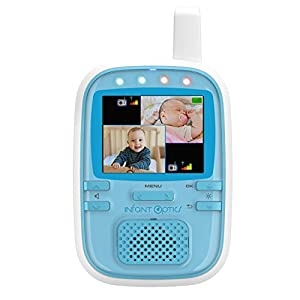 Infant Optics DXR-5+ Portable Video Baby Monitor, Blue/White