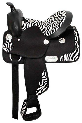 Double T Cordura Saddle With Zebra Print Seat