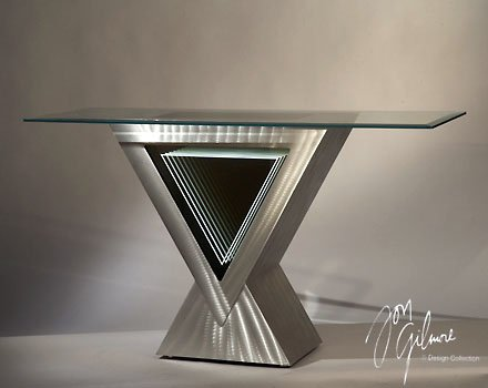 Cheap Nova Lighting 11593 Brushed Aluminum Vectors 30″H x 30″W Contemporary / Modern Console Table from th (B009KWYPJ6)