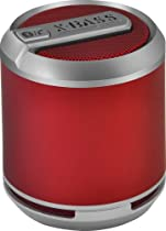 DIVOOM Bluetune Solo Red FREE CARRYING POUCH Official USA Seller, Loud Wireless Bluetooth Rechargeable Portable Speaker! 4 Apple iPod, iPad, PC, Mac, Tablet, Samung, Windows, Galaxy, Latptop, Mp3 Player & More