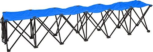 Trademark Innovations Portable 6 Seater Sports Bench Sits