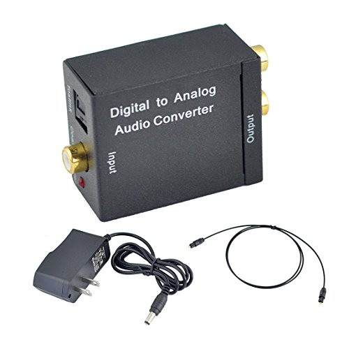 Lowest Prices! Mesinton Digital Optical Coax to Analog R/L audio converter, Digital to Analog Audio ...