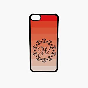 Krazycases W Monogram Back Shell Cover For Apple Iphone 5C