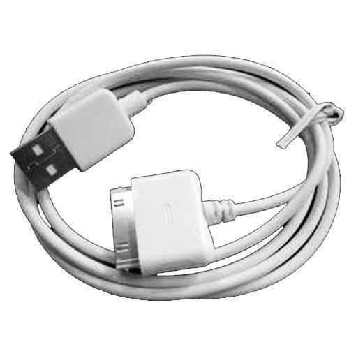 6 Foot Long USB Data Sync Cable For iPod, iPhone 2G 3G 3GS, iPhone 4, iPod Touch 2nd 3rd 4th Generation iPod Nano 4th 5th 6th Gen All iPhone, iPod Models Compatible (White Color, Ship From USA)
