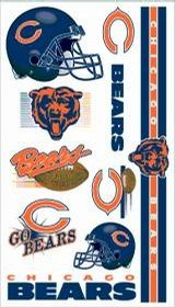 Buy Chicago Bears Temporary Tattoos pack of 6