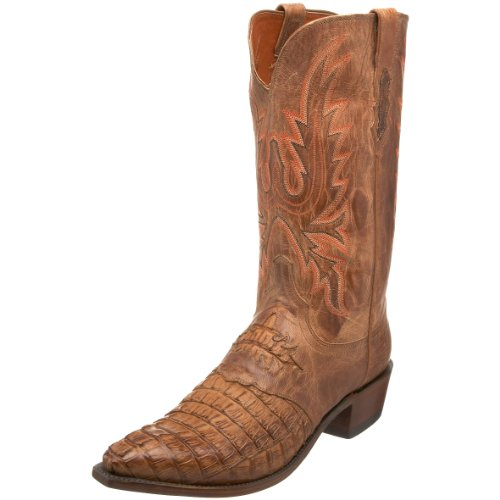 1883 by Lucchese Men's N1115 5/4 Western Boots,Tan Burnished,6.5 EE US