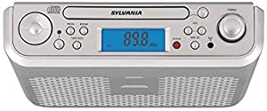 Sylvania Under Counter Kitchen CD Clock Radio (Discontinued by Manufacturer)