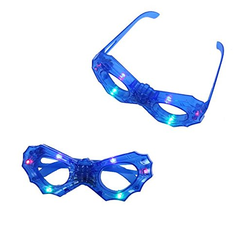 Dazzling Toys Flashing Colored Lights Glasses 2 Pack (D260)