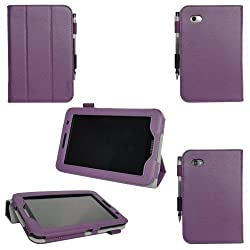 ProCase Galaxy Tab 2 7.0 Case Ultra Slim Folio Leather Case Cover for Samsung Galaxy Tab 2 7.0 GT-P3113 Tablet (Purple Smart Cover)