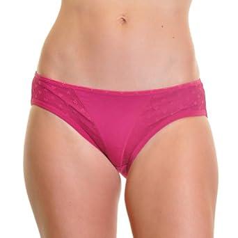 Angelina 12-Pair Cotton V-Lace Bikini w/ 7 Assorted Colors #1262XL