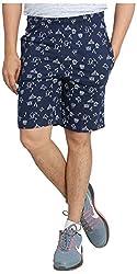 Broche Men's Cotton Shorts (Broche9006_Xl, Blue, X-Large)