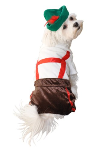 Anit Accessories Lederhosen Dog Costume, 8-Inch