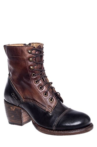 Oath Low Heel Lace-Up Boot