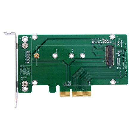 Bplus M2P4A : Pcie 2.0 X4 To M.2 (Ngff) Pcie Ssd Adapter With Ssd Heat Sink