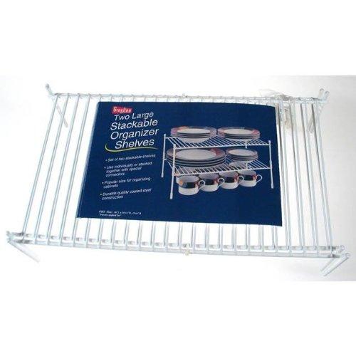 Grayline 40183, 2 Large Stackable Shelves, White