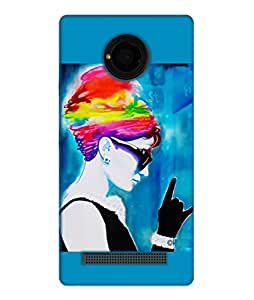 Happoz Micromax Yu Yuphoria Cases Back Cover Mobile Pouches Shell Hard Plastic Graphic Armour Premium Printed Designer Cartoon Girl 3D Funky Fancy Slim Graffiti Imported Cute Colurful Stylish Boys D187