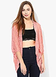 Vero Moda Women's Casual Red Shrug (10141057-PorcelainRose_Red_X-Large)