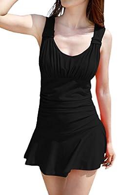 WantDo Women's Shaping Body Swimsuit lovely Swimwear One-Piece Bathing Suit(FBA)