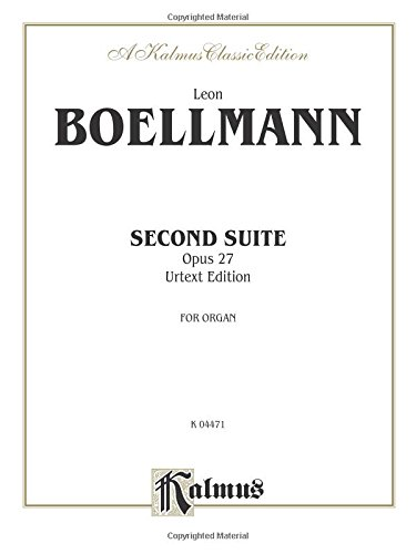 Second Suite, Op. 27 (Urtext): Sheet (Kalmus Edition)