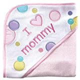 Luvable Friends I Love Mommy Hooded Towel Pink