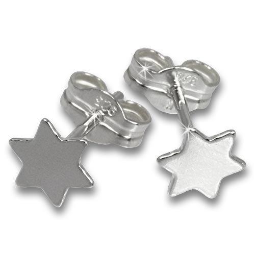 SilberDream earring silver asterisk, stud, 925 Sterling Silver SDO540