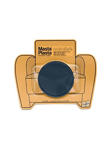 "Learn More About Super-Plain MastaPlasta Leather Repair Patch - Circle Design - 3x3"" - Navy Blu..."