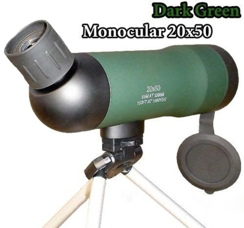 Nuoya001 Green Scope Astronomical Monocular Telescopes 20X50Mm Optics Prism +Tripod Gift (Include A Cycling Reflective Band As Gift)