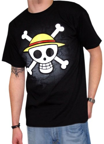 "One Piece - T-Shirt ""Teschio Con Mappa"" - M"