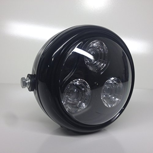 Speed Moto Co Black Led Headlight Motorcycle Streetfighter Cafe Racer Stock