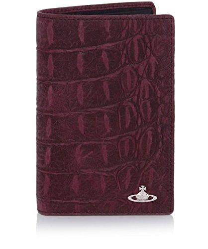 Vivienne Westwood Man Uomo Portafoglio in pelle Amazon Card Viola Unica Taglia