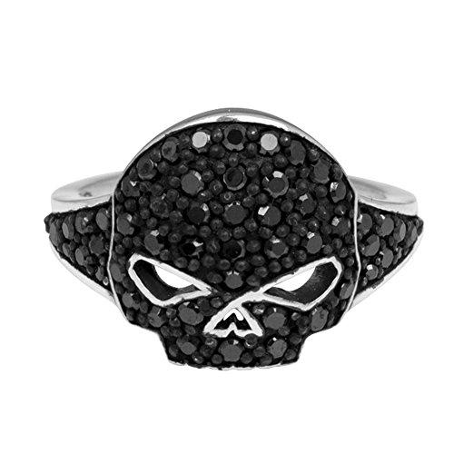 Harley-Davidson® MOD® Black Bling Ladies Skull Ring HDR0221 (8)
