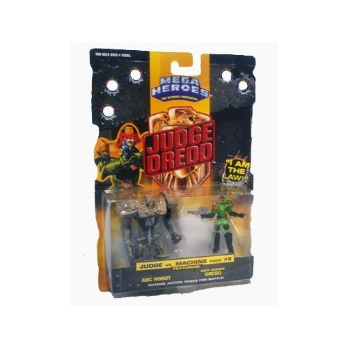 Mega Heroes Judge Dredd Judge vs Machine Pack #6 Action Figure 2-Pack - 1