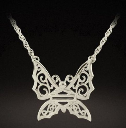 Harley-Davidson® Stamper® Women's Sterling Silver Butterfly Necklace. PN7483