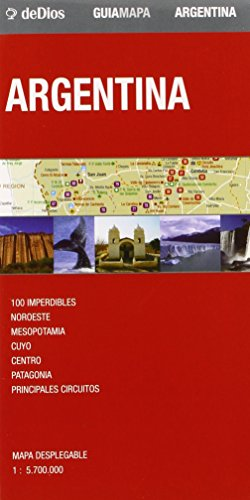 Argentina, mapa-guía plastificado. Escala 1:5.700.000. De Dios Editores. (Map Guide)