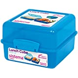 Sistema Lunch Cube Lunchbox with Three Compartments - Aqua