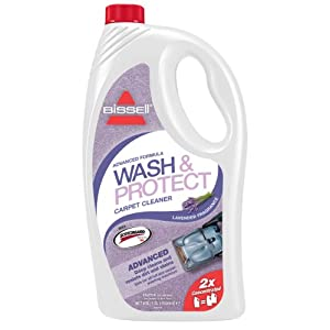 Bissell Wash & Protect Lavender Fragrance Carpet Cleaning Solution with Scotchgard