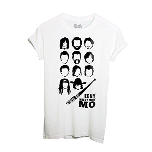 T-Shirt THE WALKING DEAD NEGAN TEAM - FILM by Mush Dress Your Style - Uomo-S-Bianca