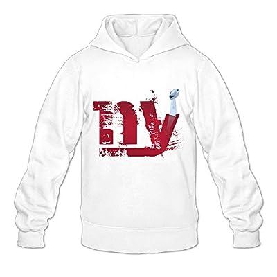 MYKKI New Giants York Men's Athletic Fleece Sweatshirt White