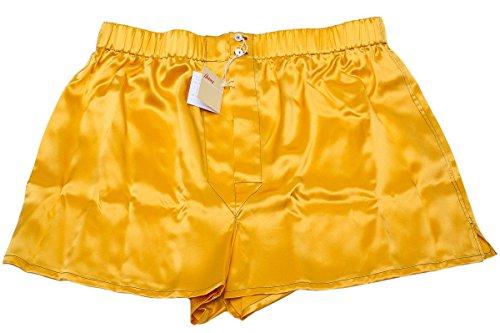 Designer Boxershort Unterhose Schlüpfer Orange 100% Seide-Orange-XXL