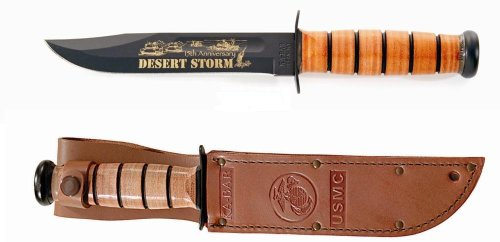 Ka-Bar Desert Storm 15Th Anniversary Commemorative Knife, Usmc Stamp 2-9152-4