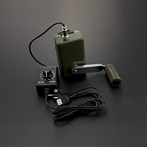 Venel Electronic Component,Portable Hand Generator and Emergency Power Charging,With Voltage Regulator,To The National Military Standards.Standard Two-Prong Outlet Interface,With Multiple Headers.