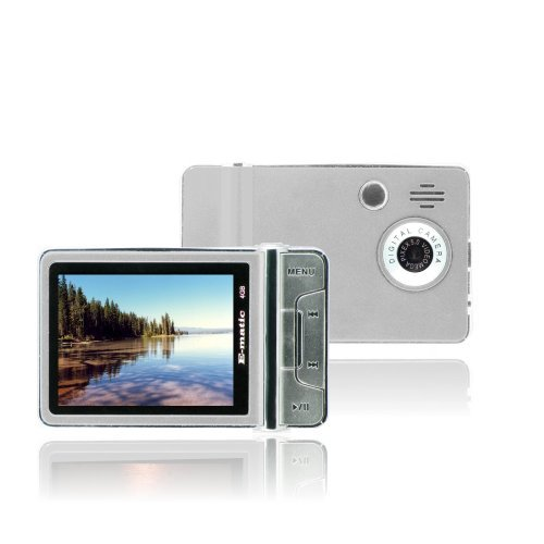 Ematic 2.4 Inches Color MP3 Video Player with Built-in 5MP Digital Camera and Video Recording, FM Radio, TV Out, Speaker 4 GB SILVER