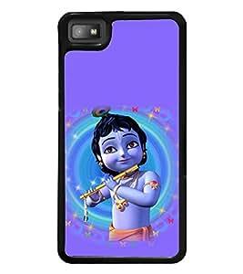 printtech Lord God Krishna Small Cartoon Back Case Cover for BlackBerry Z10