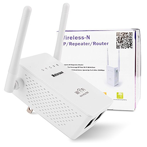 Motoraux Mini Wi-Fi Range Extender with Four Modes,wifi Repeater Supports Router,AP,repeater and WISP Mode Backward Compatible with 802.11b/g Product